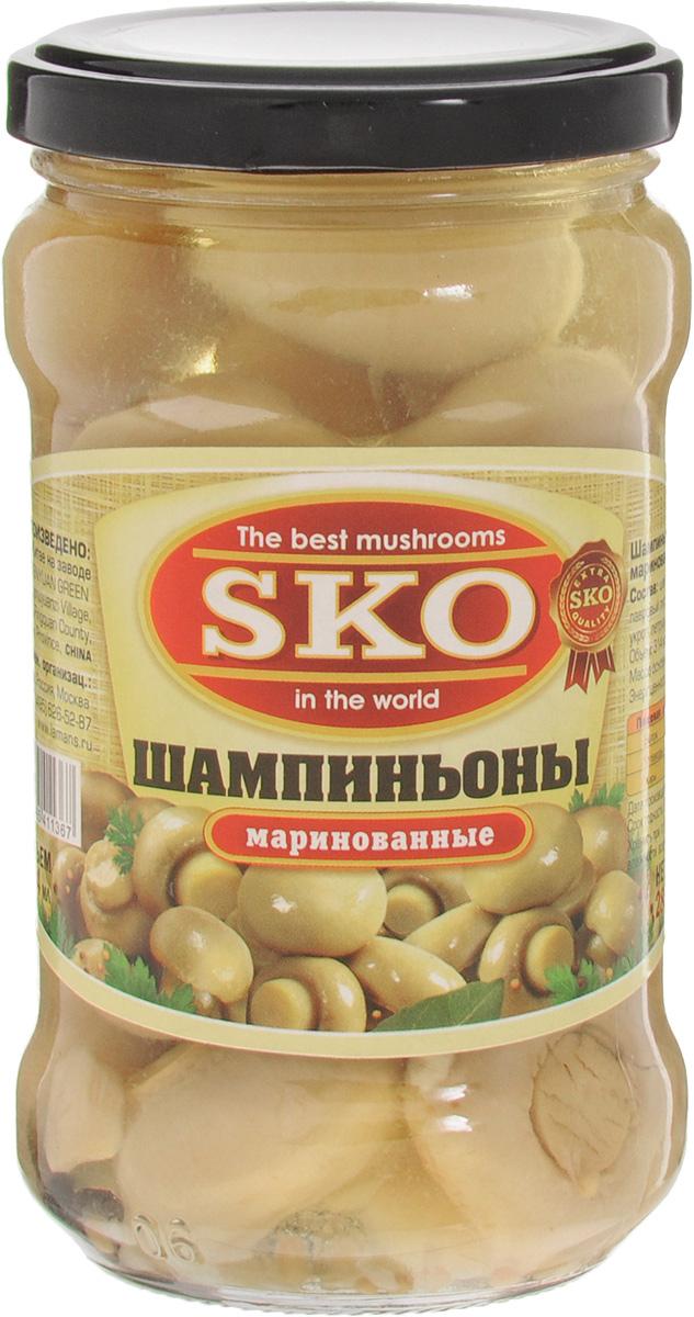 SKO Шампиньоны маринованные целые, 314 мл14010Маринованные шампиньоны SKO станут прекрасным украшением праздничного стола. Грибы тщательно отобраны. Продукция соответствует всем микробиологическим требованиям, приготовлена по специальной технологии, которая позволяет сохранить гриб светлым, красивым, а также вкусным и полезным. Шампиньон содержит все, что нужно организму. Но при этом жира в этих вкусных и полезных грибах очень мало. Шампиньоны содержат вещества, улучшающие аппетит и стимулирующие работу иммунной системы. Уважаемые клиенты! Обращаем ваше внимание, что полный перечень состава продукта представлен на дополнительном изображении.