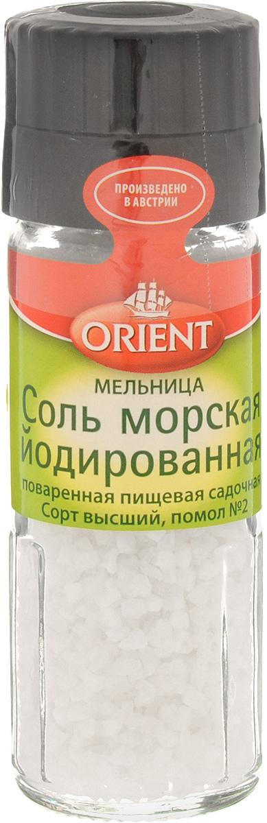 Orient Соль морская йодированная, 90 г430111Морская соль является более здоровым и полезным продуктом, чем другие существующие виды соли. Ведь она производится естественным способом выпаривания и содержит около 37 микроэлементов. Морская соль богата натуральными элементами, такими как: натрий, хлор, кальций, калий, фосфор, магний, марганец, цинк, железо, селен, медь, сера, кремний, йод.