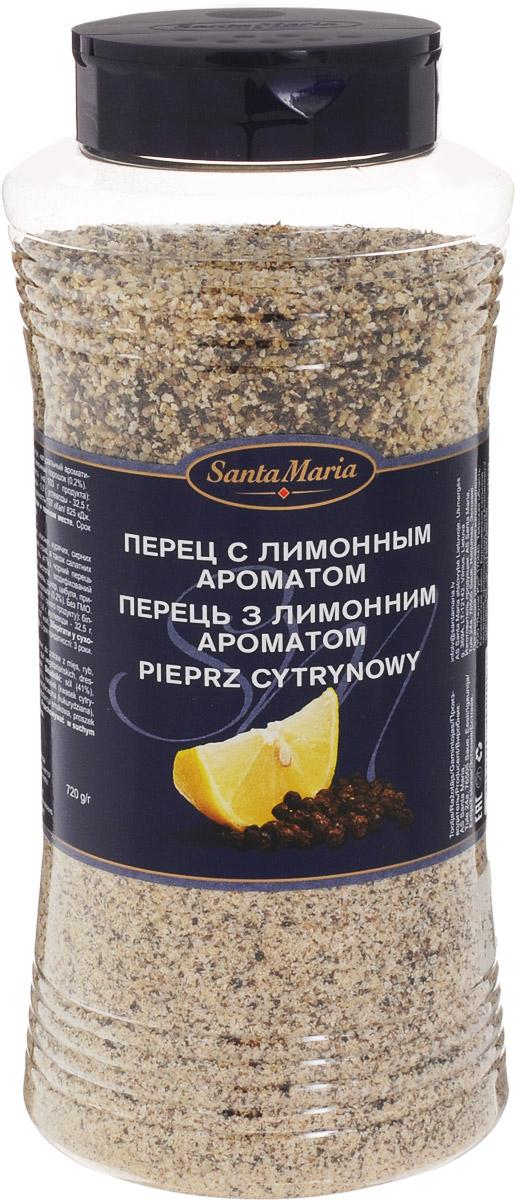 Santa Maria Перец с лимонным ароматом, 720 г15229Приправа обладает насыщенным вкусом черного перца и лимона. Подходит для приготовления рыбных, мясных, сырных и вегетарианских блюд, а также салатных соусов. Уважаемые клиенты! Обращаем ваше внимание, что полный перечень состава продукта представлен на дополнительном изображении.