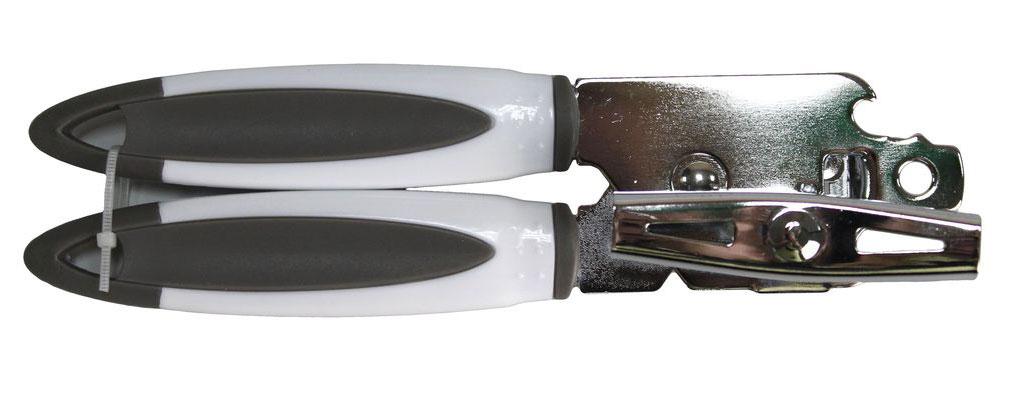 Нож консервный Vetta Арна882063Консервный нож из нержавеющей стали поможет без труда открыть консервную банку даже самой хрупкой хозяйке. Достаточно воткнуть нож в крышку и вращать специальный элемент.