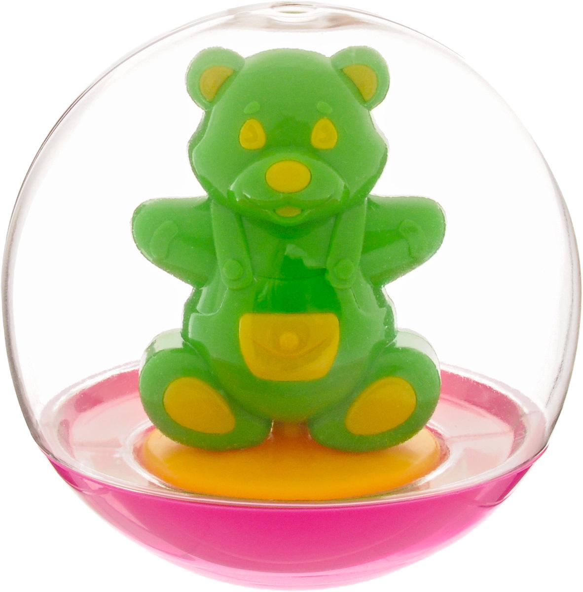 Stellar Погремушка-неваляшка Мишка цвет салатовый1_салатовыйПогремушка-неваляшка Stellar Мишка не позволит скучать вашему малышу на улице, дома и во время водных процедур. Игрушка выполнена из пластика в виде симпатичного медвежонка в прозрачном шаре. Неваляшка забавно покачивается под приятный звук погремушки, развлекая малыша. Игра с неваляшкой способствует развитию мелкой моторики, координации, слуха и цветового восприятия.