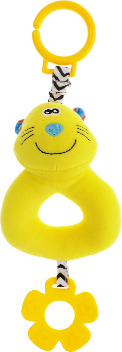 Жирафики Погремушка Котенок93930Забавная развивающая погремушка Жирафики Котенок поднимет вашему малышу настроение и непременно вызовет улыбку! Игрушка выполнена из мягкого, приятного на ощупь материала различных фактур в виде милого котенка. Внутри игрушки находится погремушка, которая весело гремит при встряхивании. С помощью пластикового кольца на резинке игрушка может крепиться к кроватке или коляске. Игрушка очень удобна для маленьких детских ручек. Малыш сможет ее держать, перекладывать из одной ручки в другую. Игрушка способствует развитию слухового, зрительного и эмоционального восприятия, тактильных ощущений, мелкой моторики.