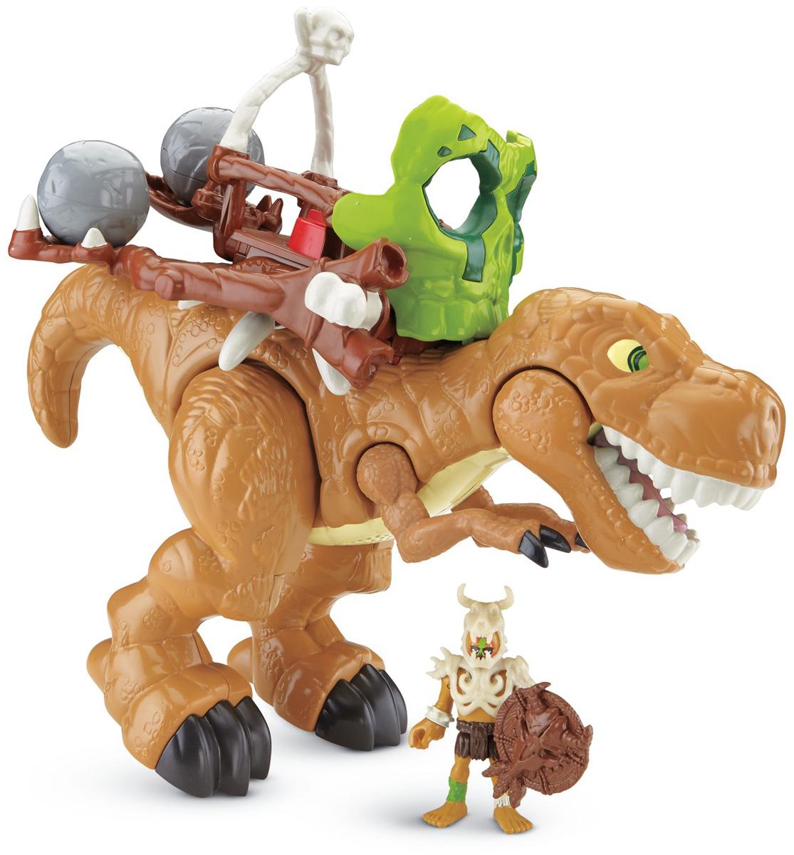 Imaginext Фигурка функциональная T-RexCDN91Фигурка функциональная Imaginext T-Rex обязательно понравится всем поклонникам динозавров. В набор входят дополнительные аксессуары, которые помогут сделать тираннозавра еще сильнее! Фигурка обладает звуковыми функциями. Рекомендуется докупить 2 батарейки напряжением 1,5V типа АА (товар комплектуется демонстрационными).