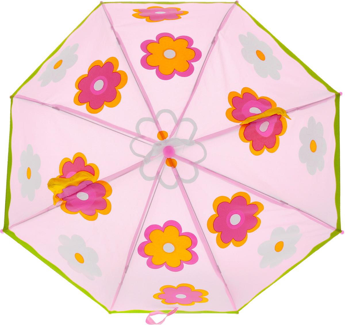 Mary Poppins Зонт-трость детский Цветочек53526Замечательный детский зонт-трость Mary Poppins Цветочек приведет в восторг любую маленькую принцессу. Розовый зонтик оформлен рисунком с крупными яркими цветочками и объемными элементами. Купол зонта оборудован гибкими металлическими спицами на пластиковом держателе. Трость дополнена практичным пластиковым крючком. У зонтика механическая система складывания, концы спиц закрыты пластиковыми шариками. Зонт открываются и закрываются вручную до характерного щелчка. Купол закрывается хлястиком на липучку. Ни дождь, ни ветер, ни палящее солнце будут не страшны детским зонтиком Цветочек. Радиус купола - 46 см.