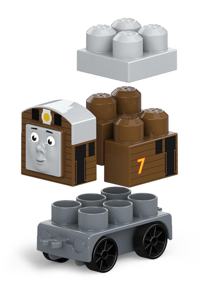 Mega Bloks Паровозик DXH47_FFD60DXH47_FFD60Погрузитесь в новые приключения всеми любимых друзей-паровозиков! Такими своих любимых друзей ты не видел никогда! Даже самые юные поклонники Томаса могут собрать Томаса, Джеймса и Перси, дружных персонажей из мультфильма Томас и его друзья, с новыми крупными блоками и колесными базами. Не спеша прокатись вокруг острова Содор и отправь паровозики вперед на полной скорости. Или соедини их вместе, чтобы игра стала еще веселее! Продаются отдельно. Герои, оформление и детали могут отличаться от изображения. Подходит для детей от года до пяти лет.