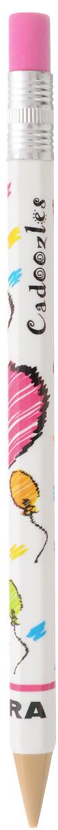 Zebra Карандаш чернографитный Fun цвет корпуса белый829044_белыйЧернографитный карандаш Zebra Fun идеален для письма и черчения. Корпус карандаша дополнен ластиком. Мягкое комфортное письмо и тонкие линии при написании принесут вам максимум удовольствия. Компактный размер карандаша идеально подходит для маленьких детских рук. Яркая оригинальная расцветка выделит карандаш среди других канцелярских предметов на столе вашего ребенка.