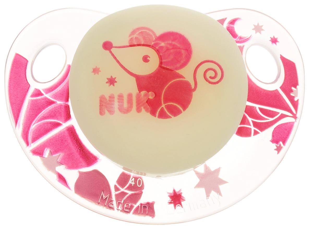NUK Пустышка латексная Мышка ортодонтическая от 0 до 6 месяцев