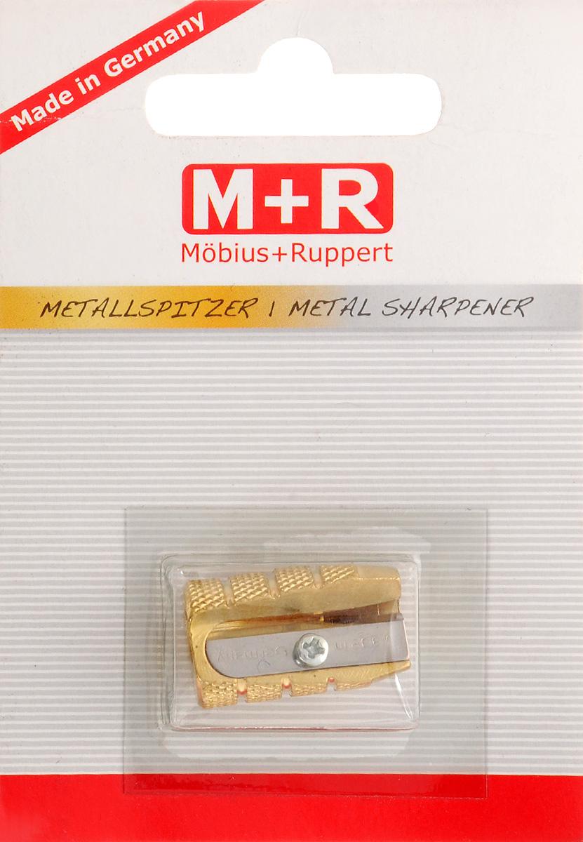 M+R Точилка Пуля0604-0002Точилка M+R Пуля выполнена из металлической латуни. В точилке имеется одно отверстие для карандашей разного диаметра. Точилка подходит для заточки чернографитных и цветных карандашей. Эргономичная оригинальная форма сделает эту точилку незаменимым аксессуаром среди ваших канцелярских принадлежностей.