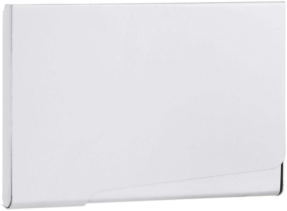 Металлическая визитница Durable на 20 визиток, цвет: серебристый2415-23Компактная металлическая визитница Durable на 20 карточек выполнена из серебристого металла. Визитница, закрывающая на защелку, позволит хранить все визитные карты под рукой. Характеристики: Размер визитницы: 6 см х 9,3 см х 1,6 см. Материал: алюминий. Размер упаковки: 7 см х 12,5 см х 1,3 см.