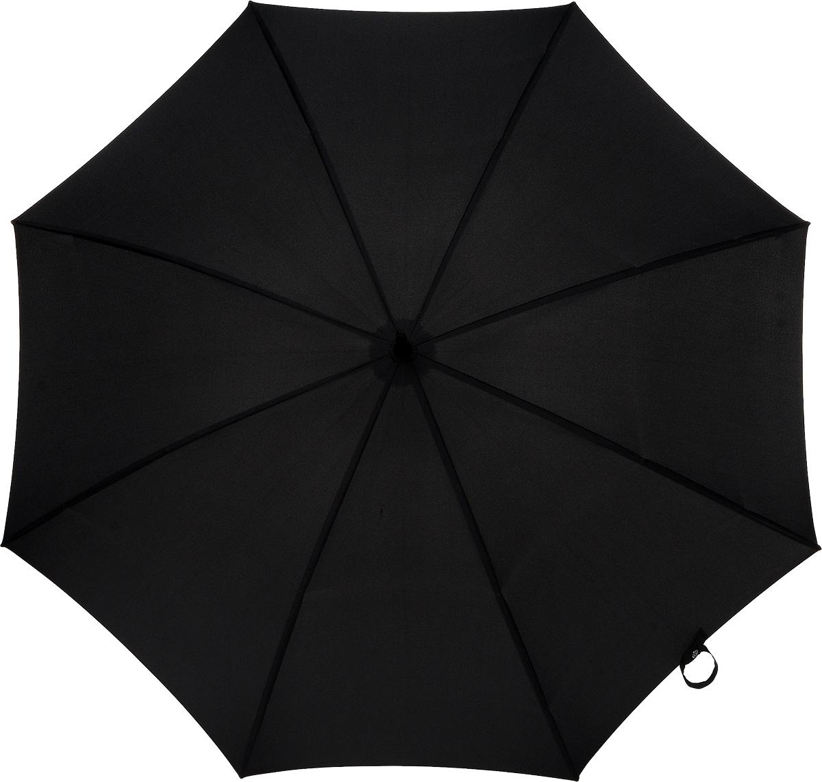 Зонт-трость мужской Huntsman, механический, цвет: черныйG813 3F001Стильный механический зонт-трость Huntsman даже в ненастную погоду позволит вам оставаться элегантным. Усиленный каркас зонта выполнен из 8 двойных спиц из фибергласса, стержень изготовлен из стали. Купол зонта выполнен из прочного полиэстера черного цвета. Рукоятка закругленной формы разработана с учетом требований эргономики и выполнена из дерева. Зонт имеет механический тип сложения: купол открывается и закрывается вручную до характерного щелчка. Такой зонт не только надежно защитит вас от дождя, но и станет стильным аксессуаром.