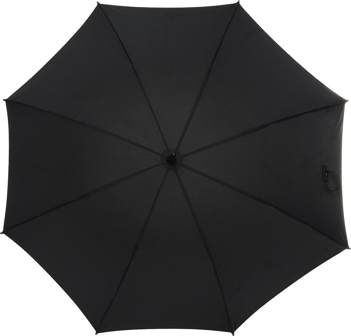 Зонт-трость женский Fulton Kensington, механический, цвет: черный. L776-01L776-01 BlackМодный механический зонт-трость Fulton Kensington даже в ненастную погоду позволит вам оставаться стильной и элегантной. Каркас зонта состоит из 8 спиц и стержня из фибергласса. Купол зонта выполнен из прочного полиэстера. Изделие оснащено удобной рукояткой из дерева. Зонт механического сложения: купол открывается и закрывается вручную до характерного щелчка. Модель закрывается при помощи двух хлястиков на кнопках. Такой зонт не только надежно защитит вас от дождя, но и станет стильным аксессуаром, который идеально подчеркнет ваш неповторимый образ.