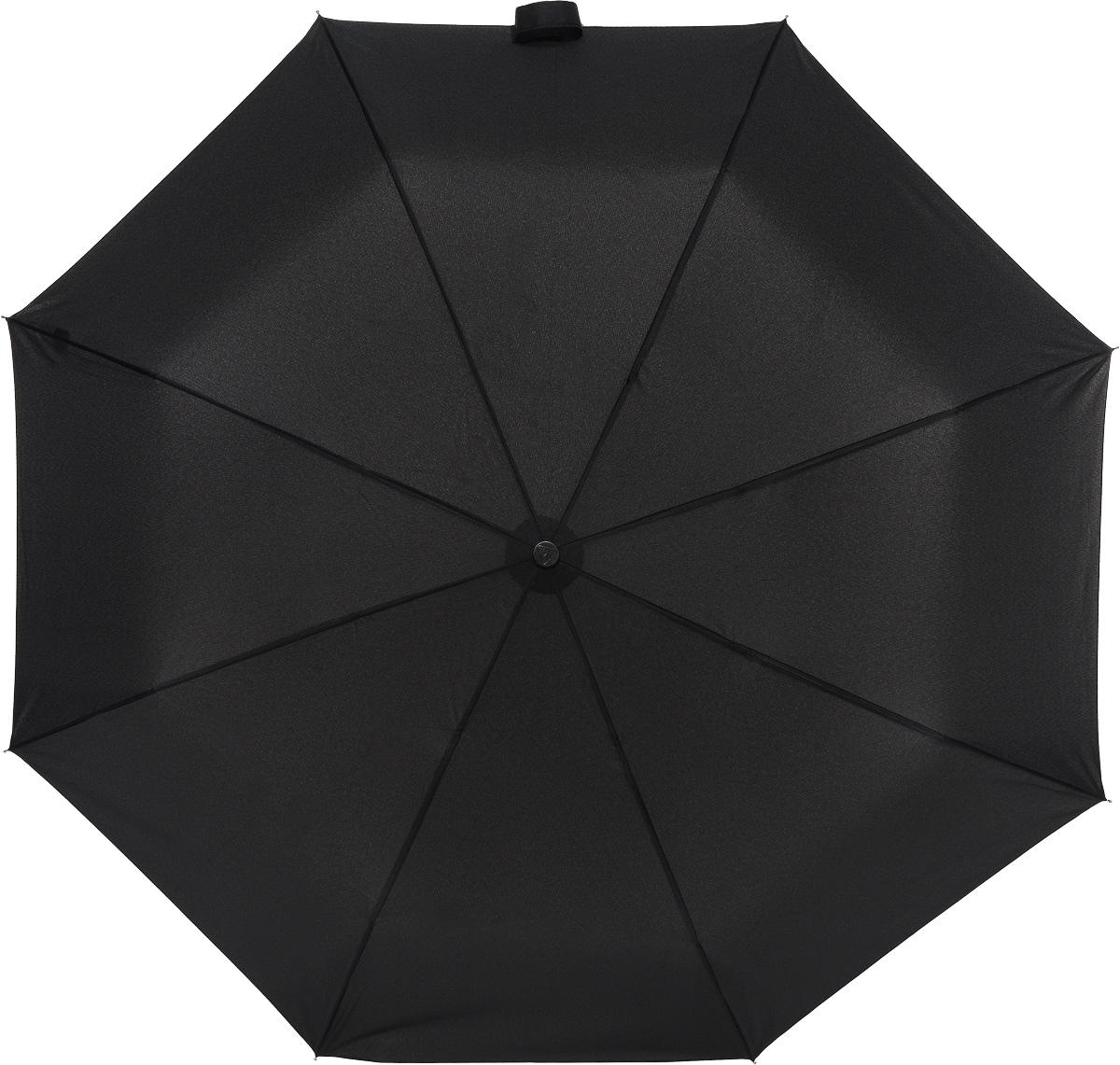 Зонт мужской Fulton, механика, 3 сложения, цвет: черный. G560-01G560-01 BlackЗонт мужской Fulton надежно защитит от непогоды. Купол выполнен из выполнен из высококачественного полиэстера, который не пропускает воду. Каркас зонта, выполненный из прочного металла, состоит из восьми спиц. Зонт имеет механический тип сложения: открывается и закрывается вручную до характерного щелчка. Удобная пластиковая ручка оснащена шнурком, с помощью которого зонт можно носить на запястье. Также к зонту прилагается чехол.