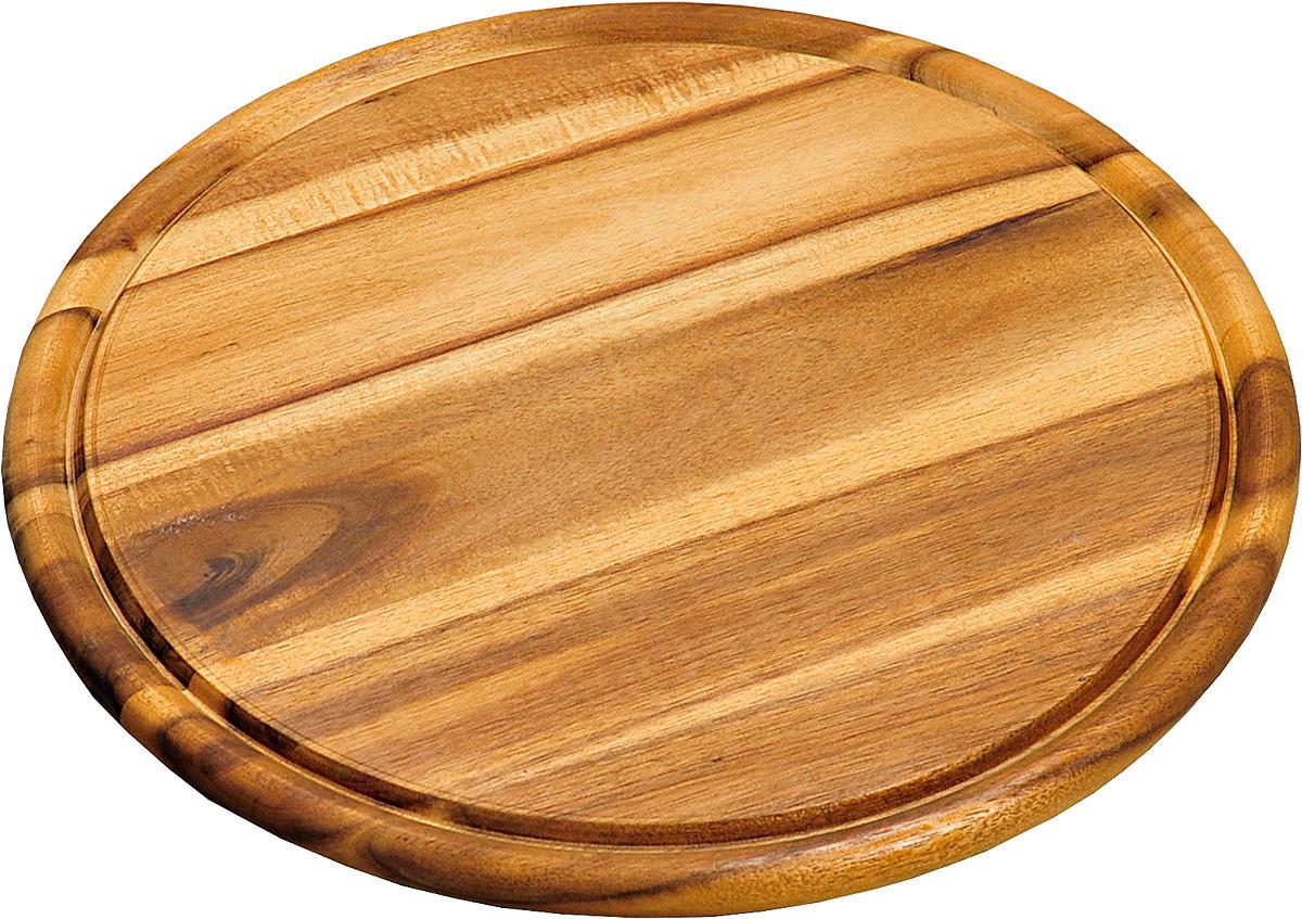 Доска подстановочная Kesper. 2844-42844-4Доска деревянная из дерева темной акации, круглая. Подходит для частого применения, имеет небольшой размер, что экономит место на кухне. Толщина-1,5 см, высота бортика -0,5см, внутренний диаметр -26 см, общий d- 30 см