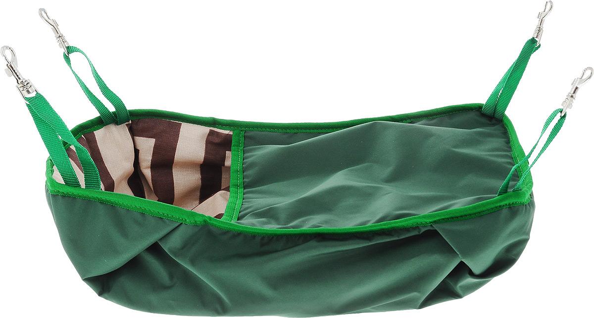 Гамак-кроватка для шиншилл и хорьков ЗооМарк, подвесной, цвет: зеленый. Д-12Д-12ЗГамак-кроватка ЗооМарк станет лучшим подарком для вашего любимца. Гамак выполнен из водоотталкивающего текстиля с мягким наполнителем и оснащен 4 специальными креплениями на карабинах. Мягкий и теплый гамак-кроватка ЗооМарк надолго привлечет внимание животного, обеспечит интересным времяпровождением, а также даст возможность прятаться внутри от холода и посторонних взглядов. Длина крепления: 13 см.
