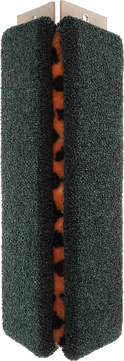 Когтеточка Меридиан, настенная, угловая, цвет: зеленый, оранжевый, черный, длина 45 смК021/зеленыйУгловая когтеточка Меридиан предназначена для стачивания когтей вашей кошки и предотвращения их врастания. Когтеточка изготовлена из ДВП и обтянута ковролином. Волокна ковролина обеспечивают естественный уход за когтями питомца. Когтеточка поможет сохранить мебель и ковры в доме от когтей вашего любимца, стремящегося удовлетворить свою естественную потребность точить когти. На когтеточке имеются 2 отверстия для крепления к стене (крепится на смежных поверхностях стен и пола). Длина когтеточки: 45 см. Ширина (в разобранном виде): 22 см.