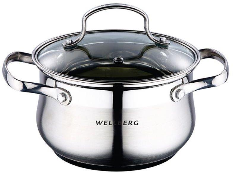 Кастрюля Wellberg, с крышкой, 3,1 л1694 WBКастрюля Wellberg, с крышкой, 3,1 л