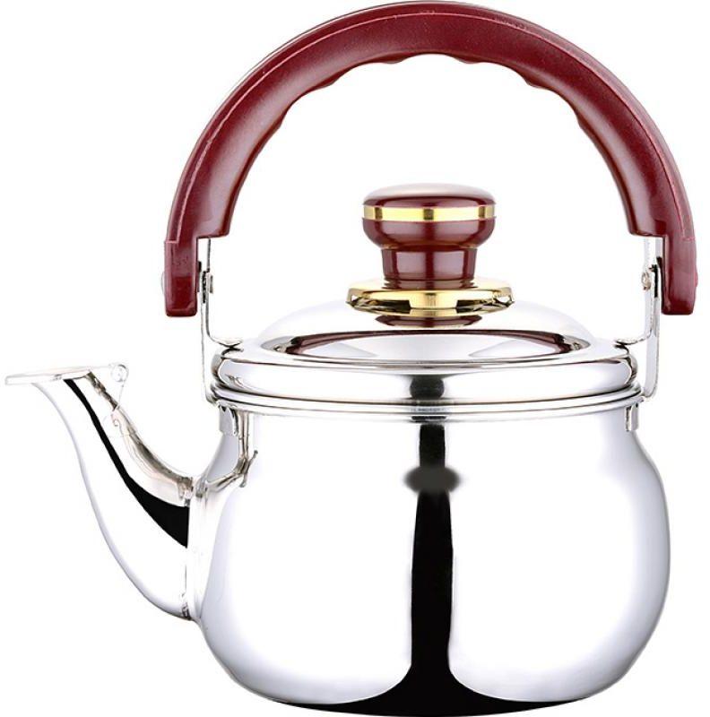 Чайник Wellberg Whistling, со свистком, 4 л1791WBЧайник Wellberg Whistling выполнен из высококачественной нержавеющей стали, что делает его весьма гигиеничным и устойчивым к износу при длительном использовании. Носик чайника оснащен свистком, что позволит вам контролировать процесс подогрева или кипячения воды. Подвижная ручка, выполненная из бакелита, дает дополнительное удобство при наливании напитка. Поверхность чайника гладкая, что облегчает уход за ним. Эстетичный и функциональный, с эксклюзивным дизайном, чайник будет оригинально смотреться в любом интерьере. Подходит для всех типов плит, кроме индукционных. Можно мыть в посудомоечной машине. Диаметр (по верхнему краю): 17,5 см. Высота чайника (без учета крышки и ручки): 12 см. Высота ручки: 11,5 см.