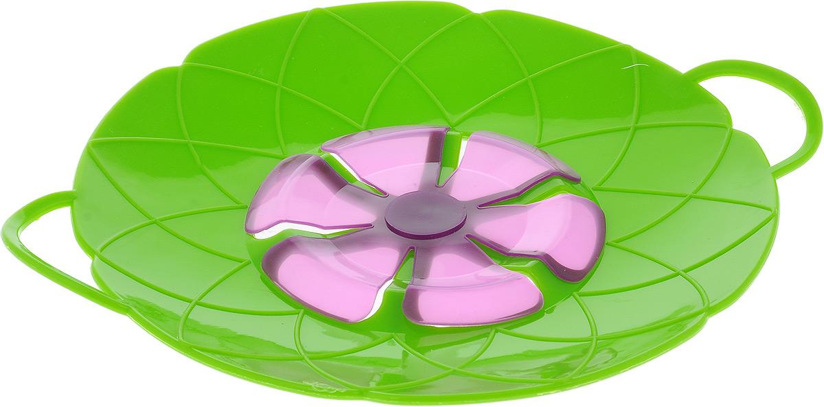 Крышка-невыкипайка Mayer & Boch, цвет: зеленый, фиолетовый, диаметр 25 см24256_зеленый, фиолетовыйКрышка-невыкипайка Mayer & Boch изготовлена из термостойкого силикона высокого качества, поэтому не теряет формы при воздействии высоких температур. Подходит для посуды диаметром 15-30 см. Изделие предотвращает выкипание, защищает мебель и плиту от брызг масла при жарке продуктов, следовательно, ваша кухня всегда будет в чистоте. Вы даже можете оставлять без присмотра готовящуюся пищу. Молоко, макароны, картофель, супы, рис, каша - все продукты могут быть приготовлены на максимальной температуре. Крышку также можно использовать для приготовления пищи на пару. При хранении в прохладных местах крышка обеспечит свежесть продуктов. При использовании крышки в микроволновой печи масло не разбрызгивается. Можно мыть в посудомоечной машине, использовать в СВЧ и в холодильнике.