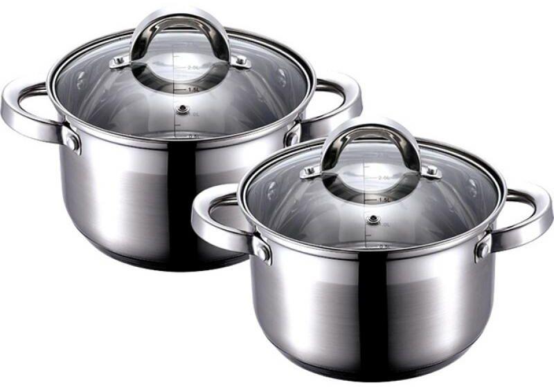 Набор кастрюль Wellberg, 4 предмета22480 WBНабор посуды Wellberg, 6 предметов