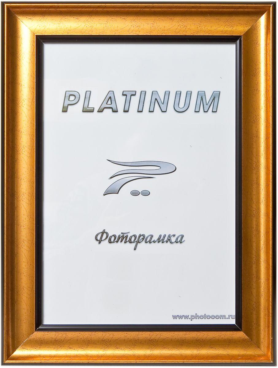 Фоторамка Platinum, цвет: золотистый, 21 x 30 см. JW100-3Platinum JW100-3-СТАРОЕ ЗОЛОТО 21x30