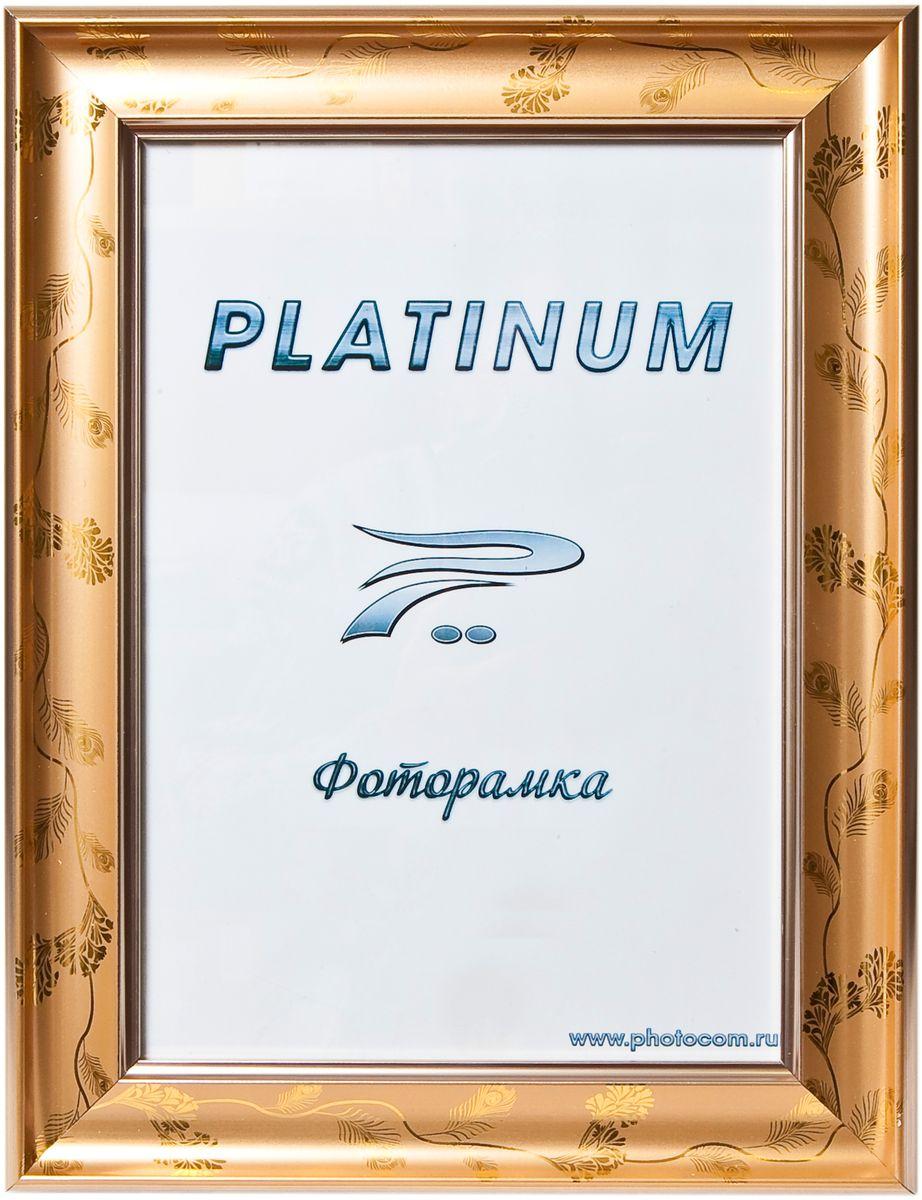 Фоторамка Platinum, цвет: золотистый, 10 x 15 см. JW100-4Platinum JW100-4-ЗОЛОТОЙ С РИСУНКОМ 10x15