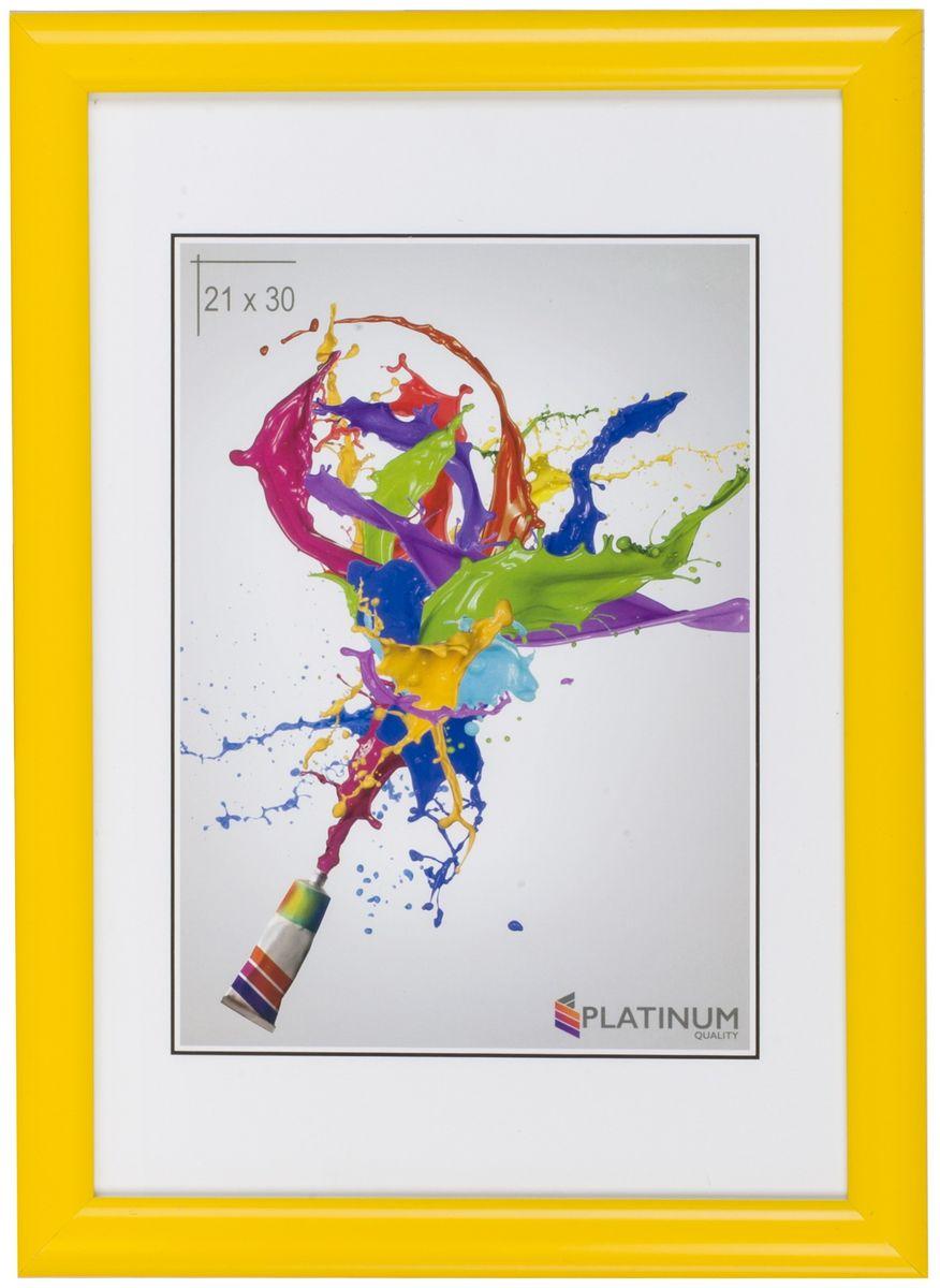 Фоторамка Platinum Милан, цвет: желтый, 30 х 45 смPlatinum JW110-4 МИЛАН-ЖЁЛТЫЙ 30x45