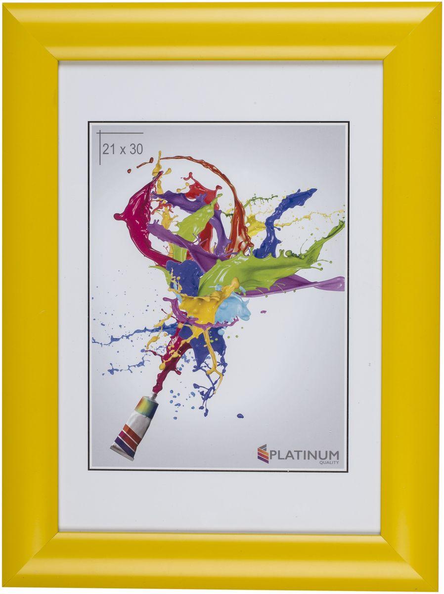 Фоторамка Platinum Аркола, цвет: желтый, 21 x 30 смPlatinum JW2-018 АРКОЛА-ЖЁЛТЫЙ 21x30