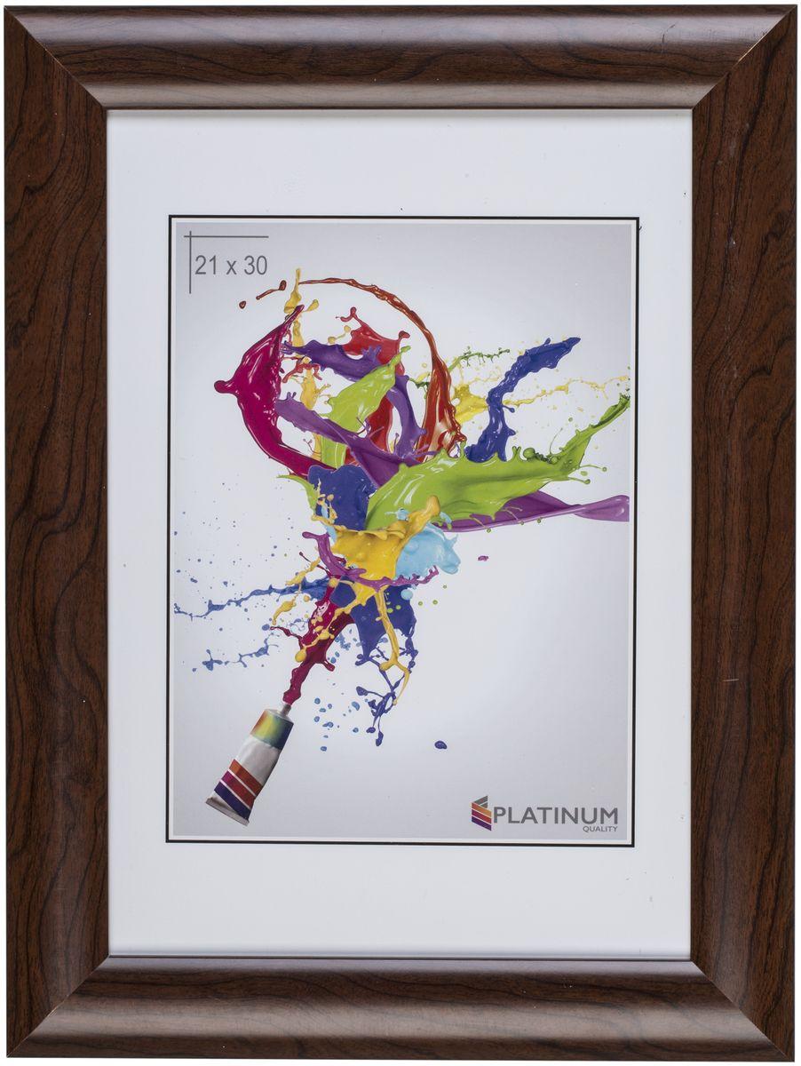 Фоторамка Platinum Аркола, цвет: коричневый, 21 x 30 смPlatinum JW2-020 АРКОЛА-КОРИЧНЕВЫЙ 21x30Фоторамка Platinum Аркола выполнена в классическом стиле из пластика и стекла, защищающего фотографию. Оборотная сторона рамки оснащена специальной ножкой, благодаря которой ее можно поставить на стол или любое другое место в доме или офисе. Также изделие дополнено двумя специальными петлями для подвешивания на стену. Такая фоторамка поможет вам оригинально и стильно дополнить интерьер помещения, а также позволит сохранить память о дорогих вам людях и интересных событиях вашей жизни.