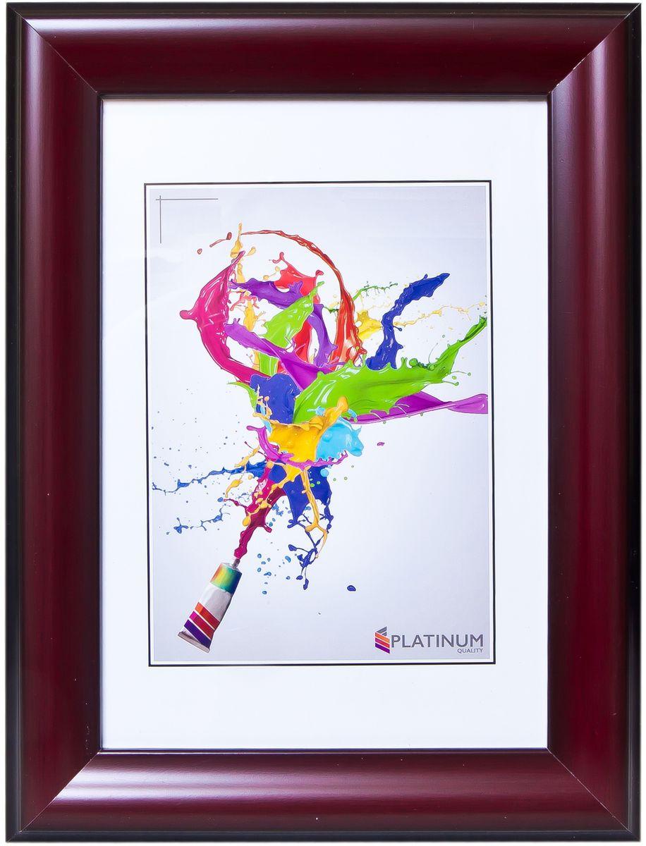 Фоторамка Platinum Бергамо, цвет: бордовый, 21 x 30 смPlatinum JW92-5 БЕРГАМО-БОРДОВЫЙ 21x30