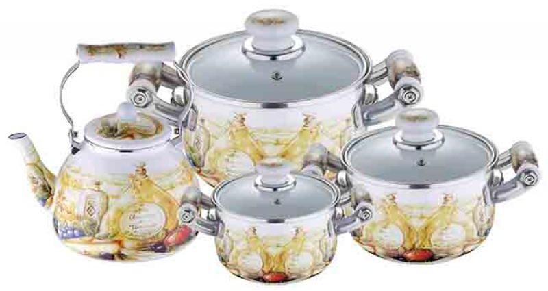 Набор посуды Wellberg, 7 предметов. 3097 WB3097 WBНабор посуды Wellberg, 7 предметов. 3097 WB