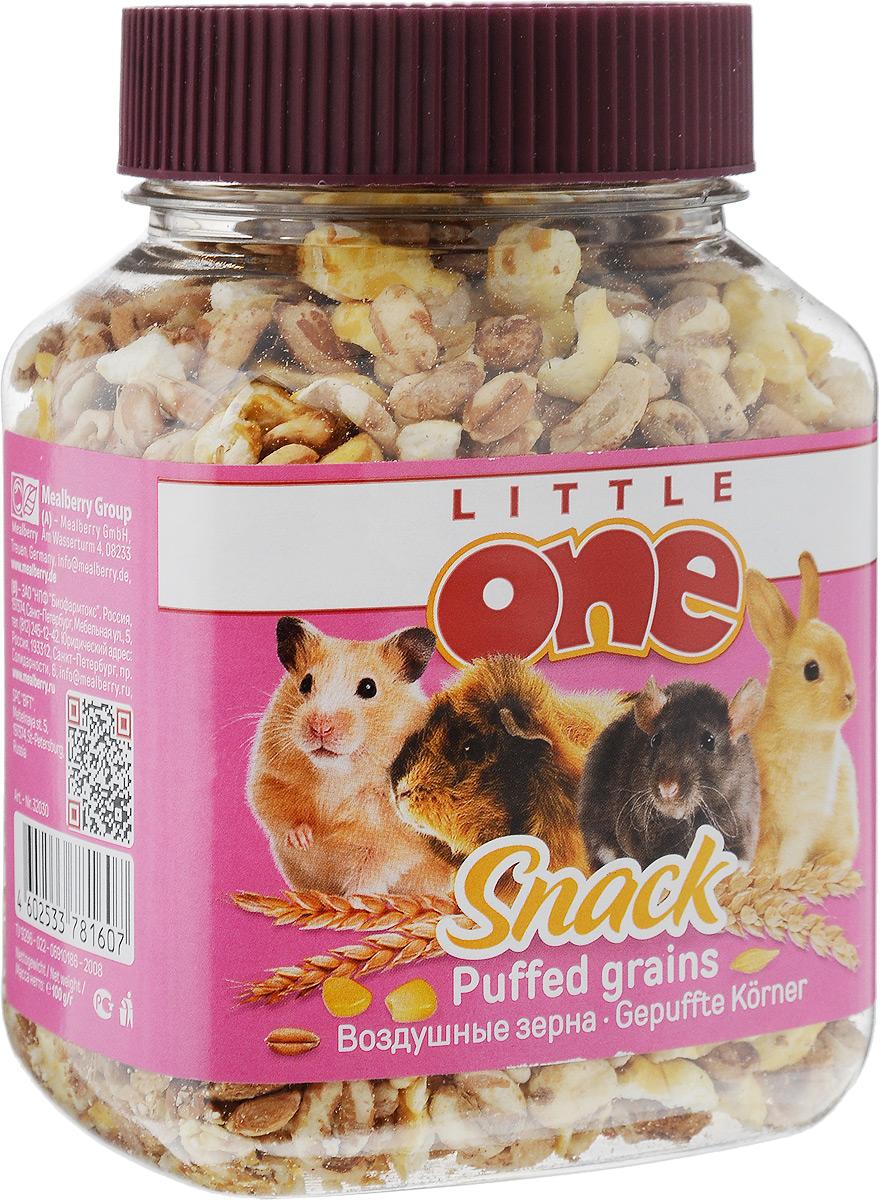 Лакомство для грызунов Little One Воздушные зерна, 100 г35312Лакомство для грызунов Little One Воздушные зерна является очень вкусной и питательной пищей для грызунов. Воздушное зерно - это зерно с пониженной объемной плотностью, за счет чего белки и углеводы становятся более доступными организму. Товар сертифицирован.