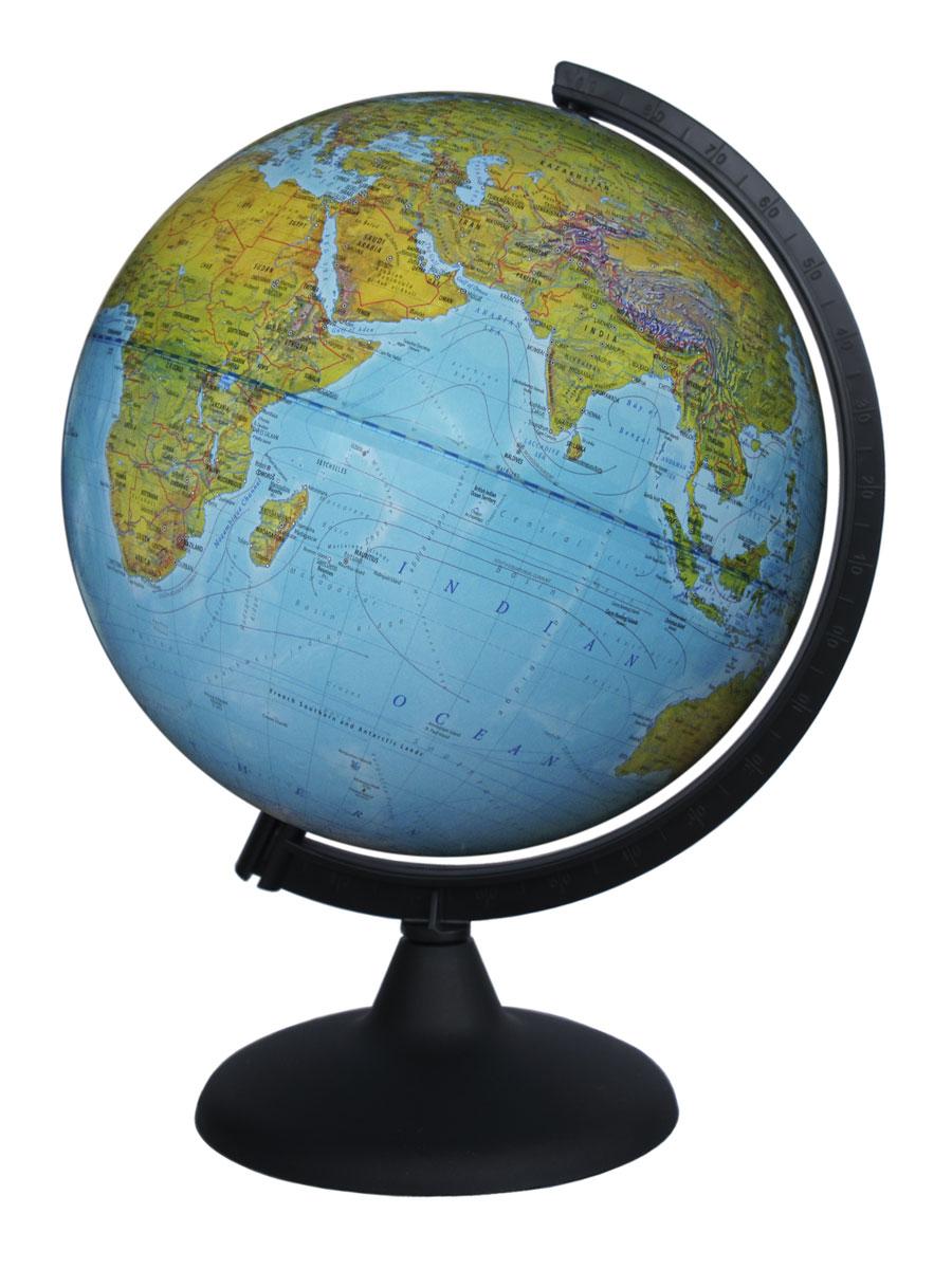 Глобусный мир Физический глобус на английском языке диаметр 25 см