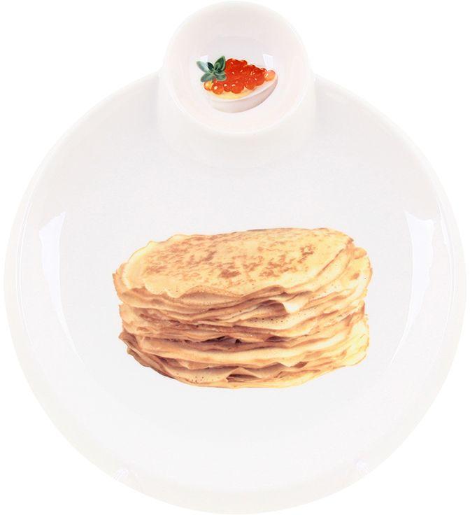Тарелка для блинов Elan Gallery Блины, с соусницей, 27,5 х 25 х 2,5 см101105Тарелка для блинов с декором позволит красиво подать блины. Легко моется, можно использовать в микроволновой печи. Изделие имеет подарочную упаковку, поэтому станет желанным подарком для Ваших близких! Размер 27,5х25х2,5 см