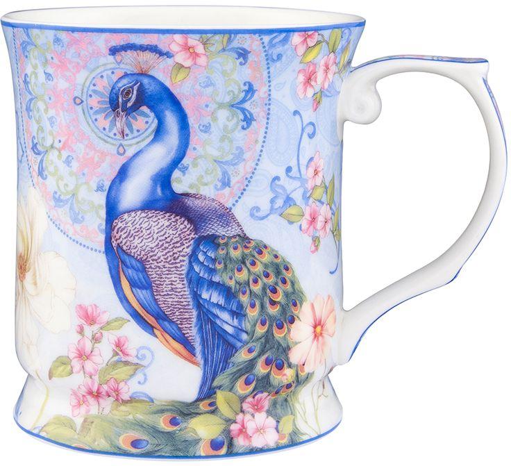 Кружка Elan Gallery Павлин в райском саду, 400 мл420110Кружка выполненная из керамики, станет оригинальным подарком! Идеальна для тех, кто предпочитает большие кружки и для любителей душевных чаепитий!