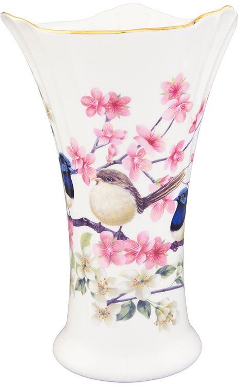 Ваза Elan Gallery Райские птички, 760 мл420127Декоративная ваза станет прекрасным дополнением любого интерьера. В такой вазе любой, даже самый скромный букет будет выглядеть замечательно!