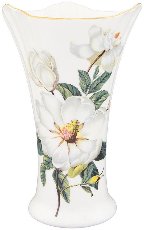 Ваза Elan Gallery Белый шиповник, 761 мл420128Декоративная ваза станет прекрасным дополнением любого интерьера. В такой вазе любой, даже самый скромный букет будет выглядеть замечательно!