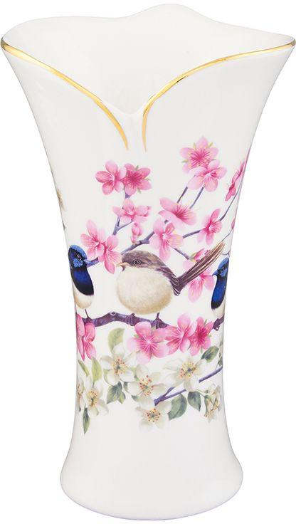 Ваза Elan Gallery Райские птички, с вырезом, 12 х 12 х 20 см420129Декоративная ваза станет прекрасным дополнением любого интерьера. В такой вазе любой, даже самый скромный букет будет выглядеть замечательно!