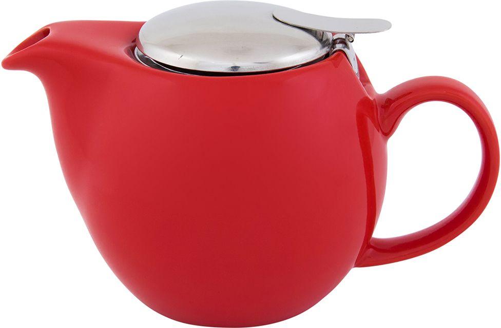 Чайник Elan Gallery, с крышкой и ситом, цвет: красный, 550 мл630003Яркая керамическая посуда создаст прекрасное настроение, удобна и безопасна в использовании. Размер 17,5х11,5х10 см Объем 550 мл