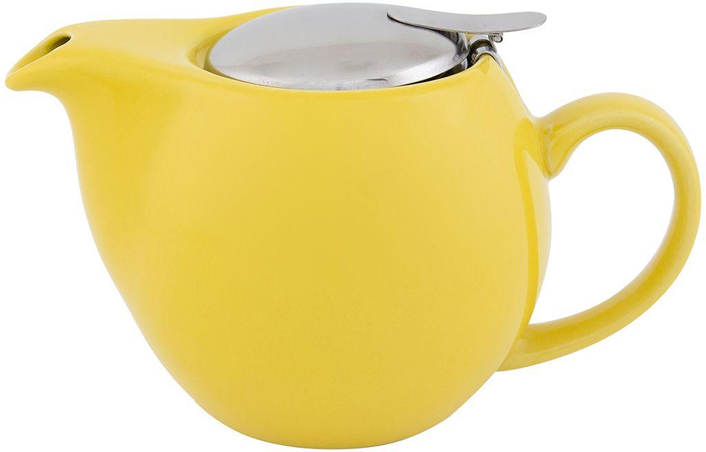 Чайник Elan Gallery, с крышкой и ситом, цвет: желтый, 550 мл630005Яркая керамическая посуда создаст прекрасное настроение, удобна и безопасна в использовании. Размер 17,5х11,5х10 см Объем 550 мл