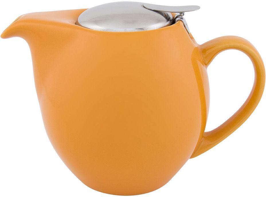 Чайник Elan Gallery, с крышкой и ситом, цвет: персиковый, 850 мл630009Яркая керамическая посуда создаст прекрасное настроение, удобна и безопасна в использовании. Размер 18,5х11,5х13 см Объем 850 мл