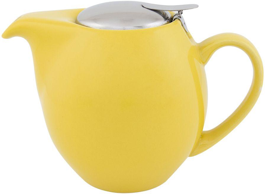 Чайник Elan Gallery, с крышкой и ситом, цвет: желтый, 850 мл630012Яркая керамическая посуда создаст прекрасное настроение, удобна и безопасна в использовании. Размер 18,5х11,5х13 см Объем 850 мл