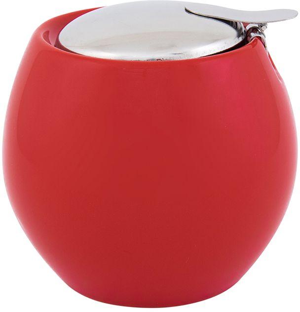 Сахарница Elan Gallery, с крышкой, цвет: красный, 500 мл630017Яркая керамическая посуда создаст прекрасное настроение, удобна и безопасна в использовании. Размер 10,5х10,5х9,5 см Объем 500 мл