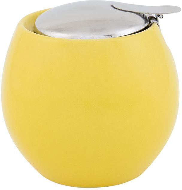 Сахарница Elan Gallery, цвет: желтый, 500 мл630019Сахарница - необходимая вещь в каждом доме. К выбору сахарницы надо подойти внимательно. Дизайн удовлетворит любой взыскательный вкус. Изделие имеет подарочную упаковку, идеальный выбор для подарка. Объем сахарницы: 500 мл. Размер сахарница: 10,5 х 10,5 х 9,5 см.