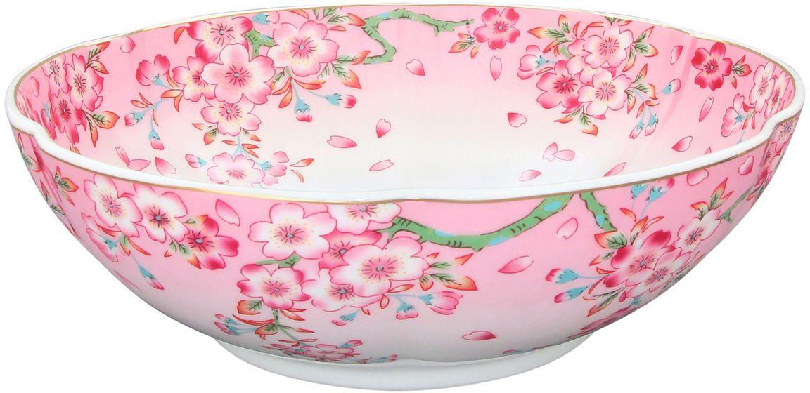 Конфетница-салатник Elan Gallery Сакура, 1 л740051Великолепный салатник идеален для сервировки салатов. Не рекомендуется применять абразивные моющие средства.