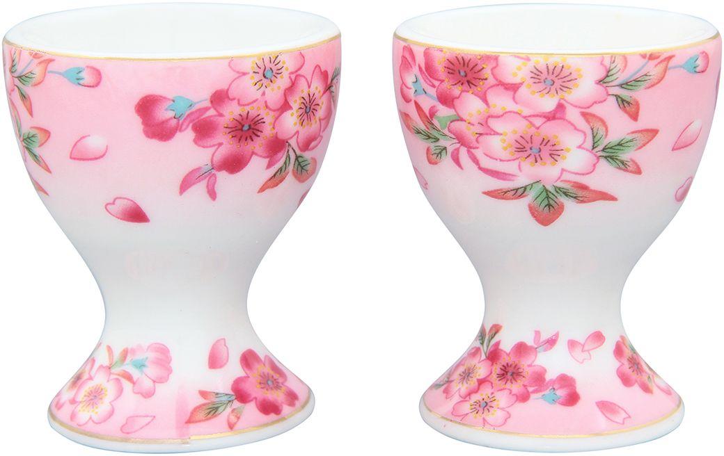 Подставка под яйцо Elan Gallery Сакура, 5 х 5 х 6,5 см, 2 шт740119Изящная посуда, изготовленная из высококачественной керамики с нежным цветочным дизайном прекрасно дополнит интерьер Вашей кухни. А также станет отличным подарком Вашим друзьям и близким.