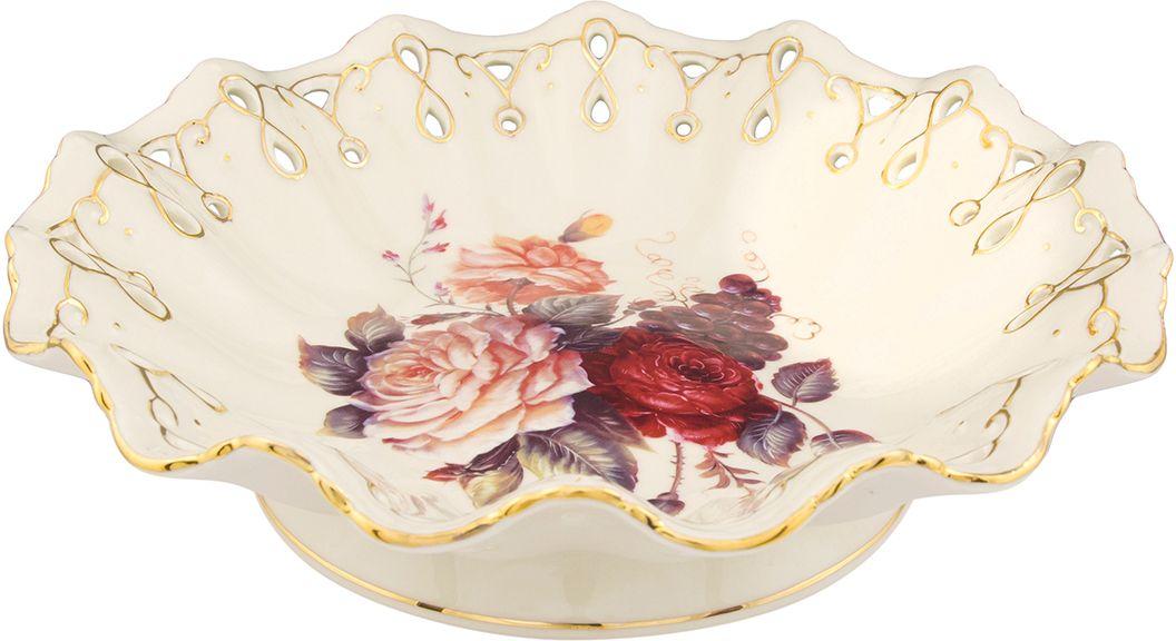 Конфетница Elan Gallery Бархатный нектар, цвет: бежевый, 25 х 25 х 7 см801046Классическое блюдо с замечательным рисунком. Может использоваться как для сервировки холодных закусок, так и для подачи печенья и десертов. Размер 25х25х7 см
