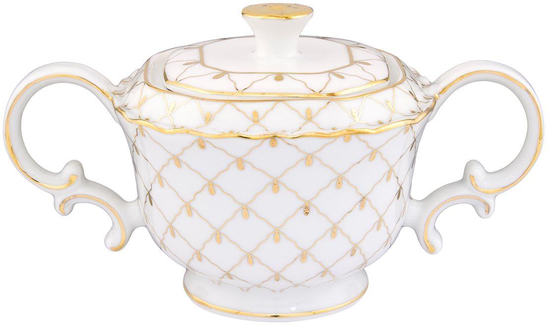 Сахарница Elan Gallery Золотая сетка, 300 мл801064Посуда из белоснежного фарфора- это украшение стола и отличный подарок. Красота и уют Вашего дома! Размер 16,5х9,5х9 см Объем 300 мл