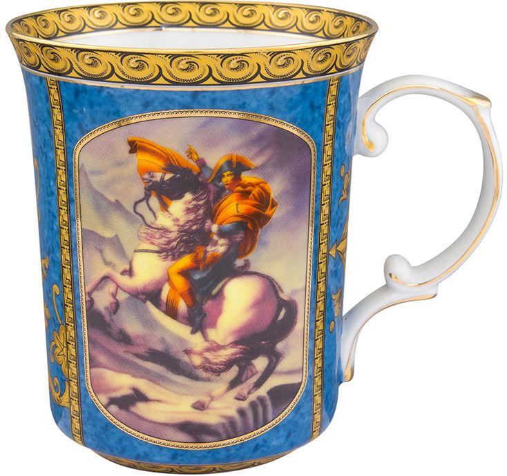 Кружка Elan Gallery Наполеон, 500 мл801119Оригинальная кружка с прекрасным дизайном изготовлена из фарфора. Она украсит сервировку любого стола и подчеркнет прекрасный вкус хозяина. Размер 13х9,5х11,5 см Объем 500 мл