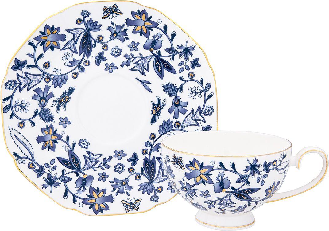Чайная пара Elan Gallery Изысканность, 250 мл801139Чайный набор на 1 персону украсит Ваше чаепитие. В комплекте чашка - 250 мл 12,5х10х6,5 см, блюдце - 16,3х16,3х2 см Изделие имеет подарочную упаковку, поэтому станет желанным подарком для Ваших близких!