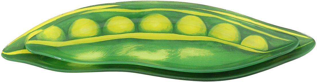 Набор блюд Elan Gallery Горох, 2 предмета890146Не важно, какая у Вас посуда, в цветочек, белая, цветная, в горошек или полоску, посуда из стекла подойдет к любой. Придает легкость, воздушность сервировке стола и создаст особую атмосферу праздника.